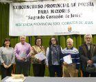 Entregados los premios del XXIII Concurso Provincial de Poesía y Relato para Mayores Sagrado Corazón de Jesús