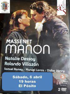 Este sábado, proyección de 'Manon', en 'Vive la Opera en Sigüenza'