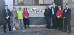 Eurocaja Rural visita la empresa 'Pan Real', asentada en más de una decena de municipios de Ciudad Real