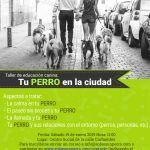 Guadalajara vuelve a acoger el 27 de abril, un nuevo taller de educación canina