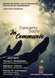 La Banda de la Diputación de Guadalajara y el coro Novi Cantores ofrecerán un ciclo de Música Sacra