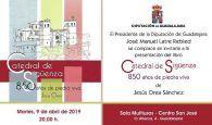 La Diputación presenta el martes 9 en Guadalajara el libro sobre la Catedral de Sigüenza escrito por Jesús Orea