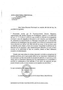 La Junta Electoral de Guadalajara prohíbe la manifestación antitaurina en Brihuega por una denuncia del Partido Popular