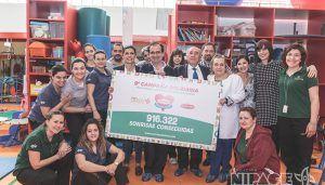 Miguelañez visita Nipace para entregar el cheque solidario Sonrisas Dulces