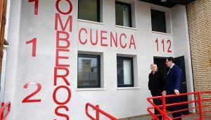 Recepcionadas las obras del nuevo parque auxiliar de bomberos de la Diputación en la capital conquense