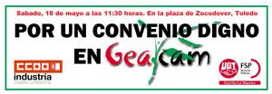 """CCOO y UGT llaman a los trabajadores a movilizarse este sabado """"por un convenio digno"""" en GEACAM"""