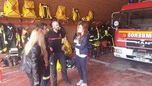 Cristina Fuentes se reúne con el cuerpo de Bomberos de Cuenca para recoger sus quejas y propuestas