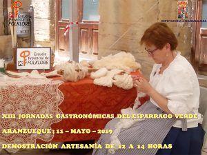 Demostraciones de artesanía de la Escuela de Folklore de la Diputación en Aranzueque el próximo sábado 11