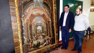 Diputación de Cuenca concluye la restauración del cuadro de la infancia de Jesús de Buenache de Alarcón