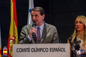 El Comité Olímpico Español y la Real Federación de Karate reconocen al alcalde de Guadalajara, Antonio Román, la apuesta realizada por el deporte en los últimos años