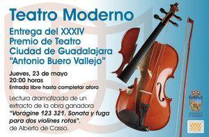 El jueves, 23 de mayo, en el Moderno, una buena oportunidad de escuchar un extracto de la obra ganadora del Premio de Teatro Antonio Buero Vallejo