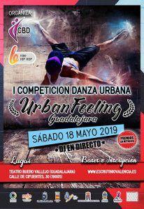 El sábado, 18 de mayo, por la tarde, Urban Feeling en el Buero Vallejo