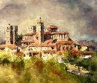 Emilio Fernández-Galiano dona un cuadro al Cabildo, con motivo del Año Jubilar de la Catedral