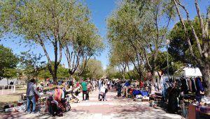Enorme éxito del Mercadillo de Segunda Mano de Cabanillas, en su traslado al Parque Buero Vallejo
