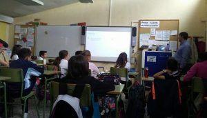 La #CiberseguridadAlCole de Voluntarios Telefónica llega a los alumnos de 6º de Primaria del CEIP Cristo de la Esperanza de Marchamalo