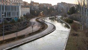 El Ayuntamiento de Guadalajara realiza trabajos de mantenimiento y conservación en la lámina de agua del barranco del Alamín