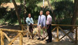 Román recuperará dos tramos más de la ribera del río Henares e instalará una pasarela que conectará La Chopera y la Avenida Pedro Sanz Vázquez