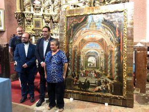 Buenache de Alarcón recibe el cuadro de la infancia de Jesús tras ser restaurado por la Diputación de Cuenca