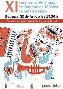 Este domingo, en Sigüenza, XI Encuentro Provincial de Bandas de Música de Guadalajara