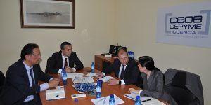 CEOE-Cepyme Cuenca recibe a la empresa Future Space como futura inversora en la provincia