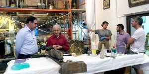 Diputación de Cuenca concluirá en breve la conservación del Retablo Mayor de la iglesia de La Parra de las Vegas