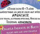 El Ayuntamiento de Huete organiza una escuela infantil de verano para conciliar vida familiar y laboral