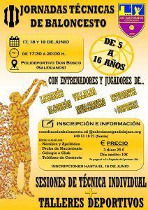 El CD Salesianos organiza sus III Jornadas Técnicas de Baloncesto