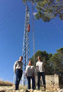 La Junta pone en marcha una nueva estación base de telefonía móvil con cobertura 4G en Centenera