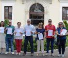 Los diputados provinciales del PSOE por la provincia de Guadalajara recogen sus credenciales