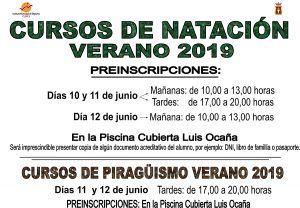 El Ayuntamiento de Cuenca abre el plazo para la preinscripción en los cursos de verano de natación para niños de 4 a 14 años