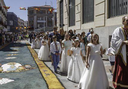 Guadalajara celebra este domingo la Procesión del Corpus Christi los niños y niñas que este año han recibido su primera comunión