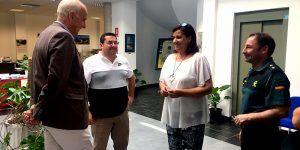 Visita institucional del subdelegado del Gobierno en Cuenca a Barajas de Melo