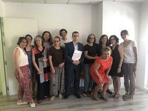 Arriola visita la lanzadera de empleo de Azuqueca de Henares con el objetivo de buscar nuevas fórmulas de colaboración