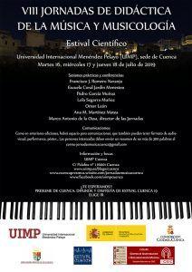Comienzan las VIII Jornadas de Didáctica de la Música y Musicología de la UIMP de Cuenca