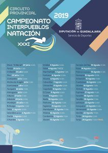 El Campeonato Interpueblos de Natación de Guadalajara llegará este año a cincuenta municipios
