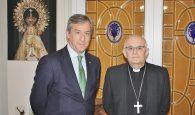 El presidente de Eurocaja Rural visita al Obispo de Albacete