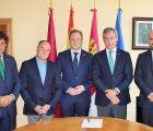 Encuentro institucional entre el presidente de Eurocaja Rural y el nuevo alcalde de Albacete