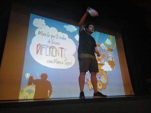 Los niños de la Escuela de Verano de San Clemente disfrutan de la presentación de la APP Turística Marco Topo