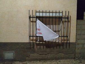Arrancan los carteles contra las macrogranja de cerdos en Villar de Domingo García