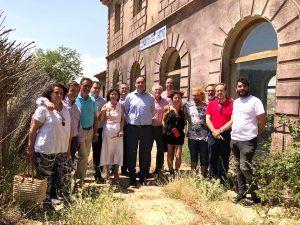Prieto muestra su satisfacción por que el proyecto Serranía en Vía comience a tomar cuerpo con las obras en La Melgosa