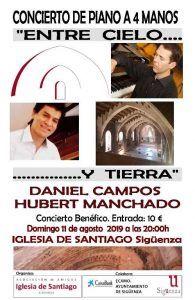 Este domingo, concierto de piano benéfico a favor de la Iglesia de Santiago
