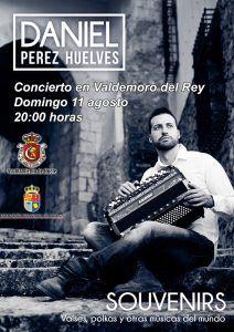 Concierto del acordeonista Daniel Pérez en Valdemoro del Rey