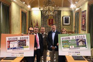 El reloj de la Torre de Mangana y el Teatro Auditorio lucirán en sendos cupones de la ONCE