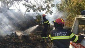 Controlado el incendio en Brihuega aunque aún luchan contra el fuego 10 medios y 42 personas