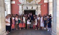 Dario Dolz recibe a la Corte de Honor de la Feria y Fiestas de San Julián 2019