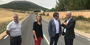 La Diputación de Guadalajara mejora el firme de la carretera que une Sigüenza con Alcuneza y Alboreca