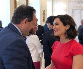 """Núñez asegura que Díaz Ayuso es una mujer """"preparada, capacitada y valiente"""" que va a impulsar un gobierno """"de futuro y vanguardia para Madrid"""""""