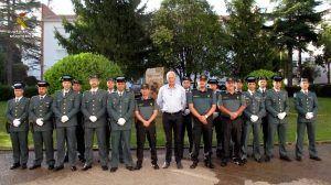 El subdelegado del Gobierno en Cuenca da la bienvenida a los nuevos suboficiales que se incorporan a la Comandancia de la Guardia Civil