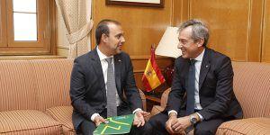 Bellido recibe al presidente de Eurocaja Rural