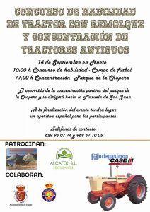 El Ayuntamiento de Huete organiza un concurso de habilidad de tractor con remolque y concentración de tractores antiguos